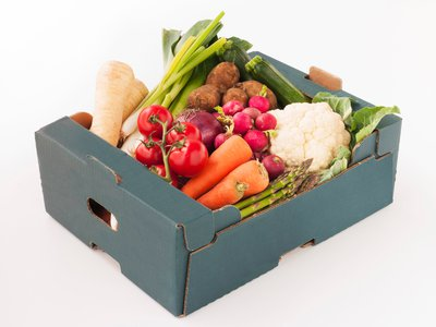 Laminated vegetable box